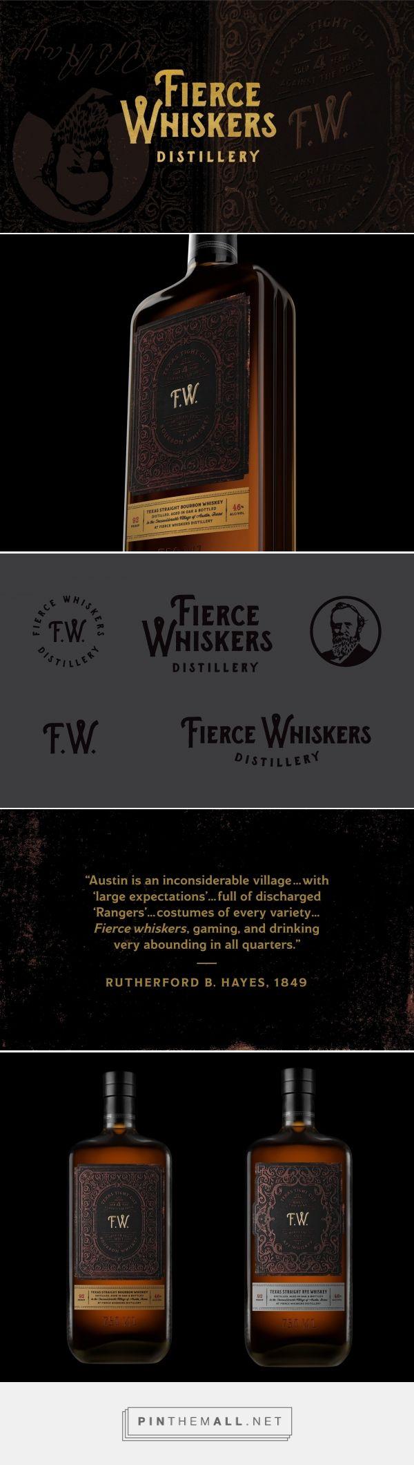 Fierce Whiskers Distillery packaging design by The Butler Bros - https://www.packagingoftheworld.com/2018/02/fierce-whiskers-distillery.html