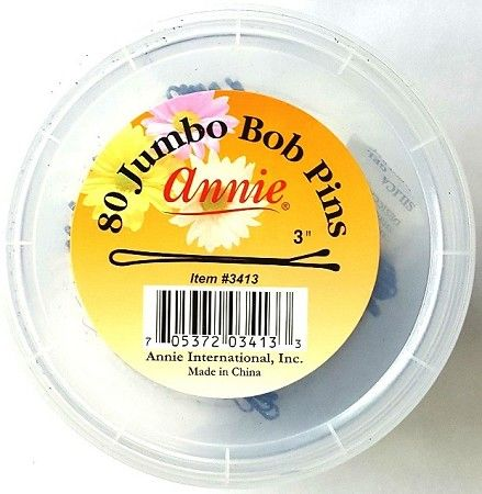 Annie 80 Jumbo Bob Pins Jar Black - 1 Jar #3413 $1.95   Visit www.BarberSalon.com One stop shopping for Professional Barber Supplies, Salon Supplies, Hair & Wigs, Professional Product. GUARANTEE LOW PRICES!!! #barbersupply #barbersupplies #salonsupply #salonsupplies #beautysupply #beautysupplies #barber #salon #hair #wig #deals #sales #Annie #80 #Jumbo #Bob #Pins #Jar #Black #3413