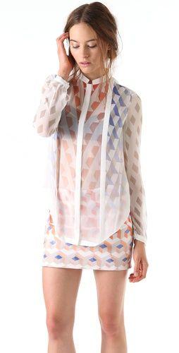 Dion Lee Print Mobius Shirt