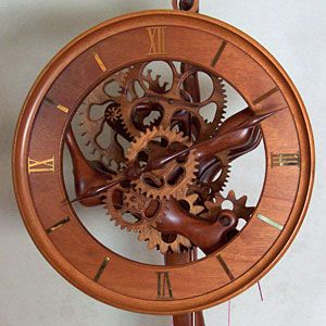 wooden clock   ... , creating beautiful handmade custom wood clocks from scratch