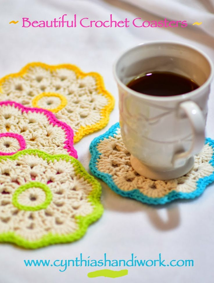 Cynthia's Handiwork: Beautiful Crochet Coasters