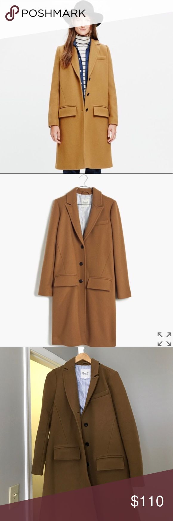 Madewell Teatro Camel Wool Coat 6 Preowned in excellent condition. Long wool swing coat. Price is firm Madewell Jackets & Coats