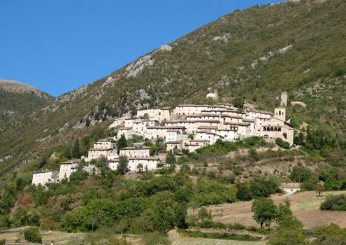 Lovely mountain village in Le Marche, #Italy #photo