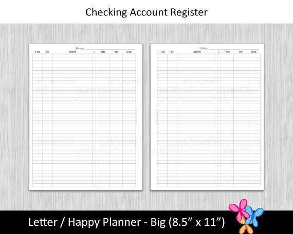 Más de 25 ideas increíbles sobre Printable check register en Pinterest - printable check register