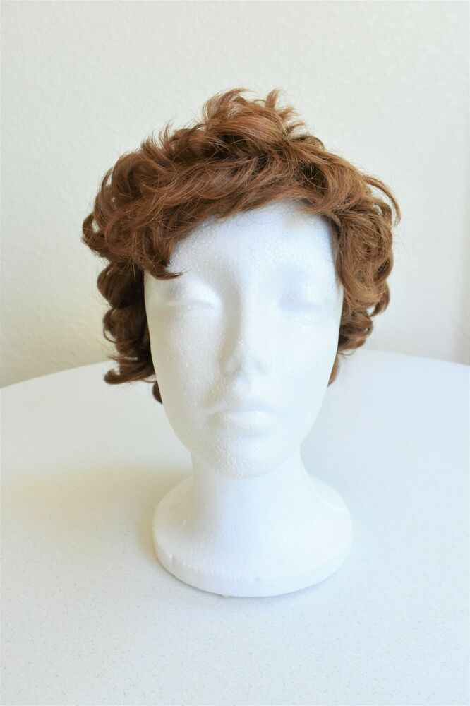 Vintage 1990 S Wig Short Brown Curly Hair Halloween Costume Synthetic Ebay In 2020 Brown Curly Hair Curly Hair Styles Wigs
