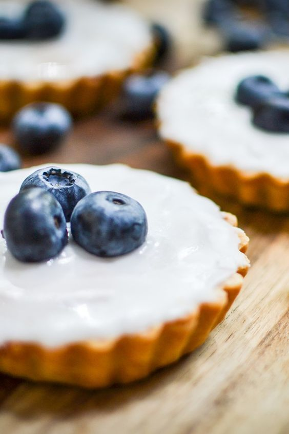 This blueberry Bakewell tart recipe will go down a storm at any summer dinner party.