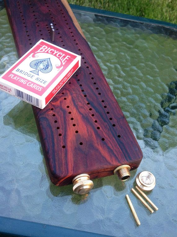 Cocobolo Cribbage Board by SlingshotsByRiley on Etsy