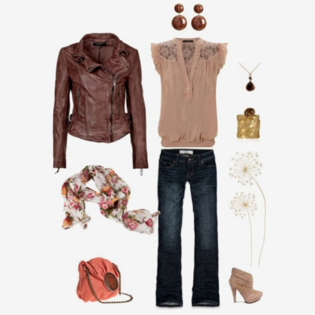 Perfect ensemble! Already pinned this leather jacket b4