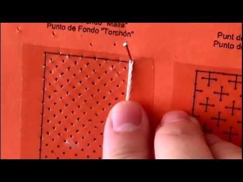 (53) 7 - Cómo hacer una trenza o cadeneta de encaje de bolillos - YouTube