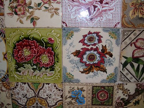 Some of my favourite Victorian tiles by the vintage cottage, via Flickr
