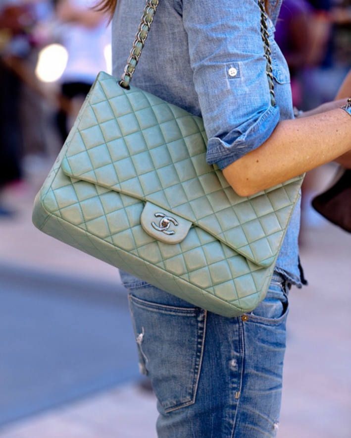 Weekly Inspiration #9 (Part 1) ( Leather Clutches & Denim Jeans )