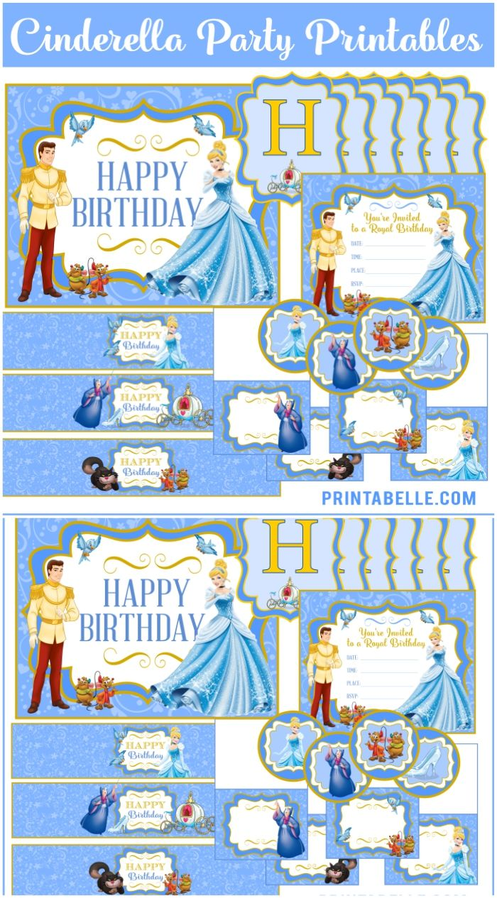 Cinderella party printables to help make your party extra pretty!