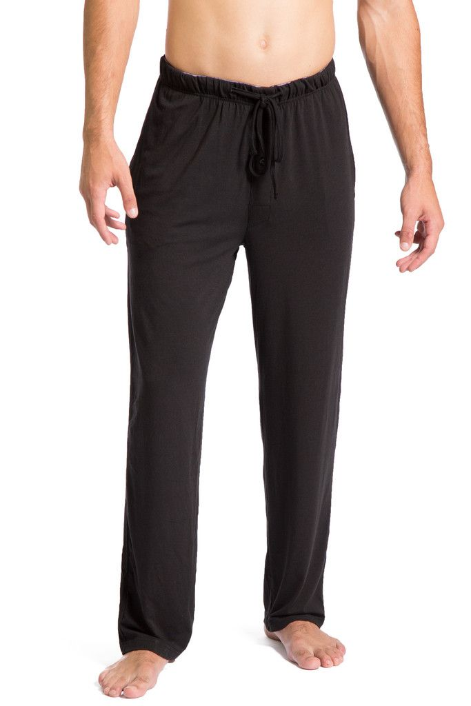Men's Pajama Pants Ecofabric All Day Comfort Jersey Pants – Fishers Finery $30. Black, charcoal, blue, light grey.
