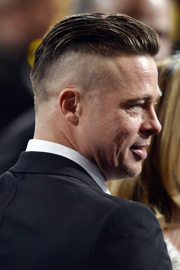 brad pitt fury hair - photo #19