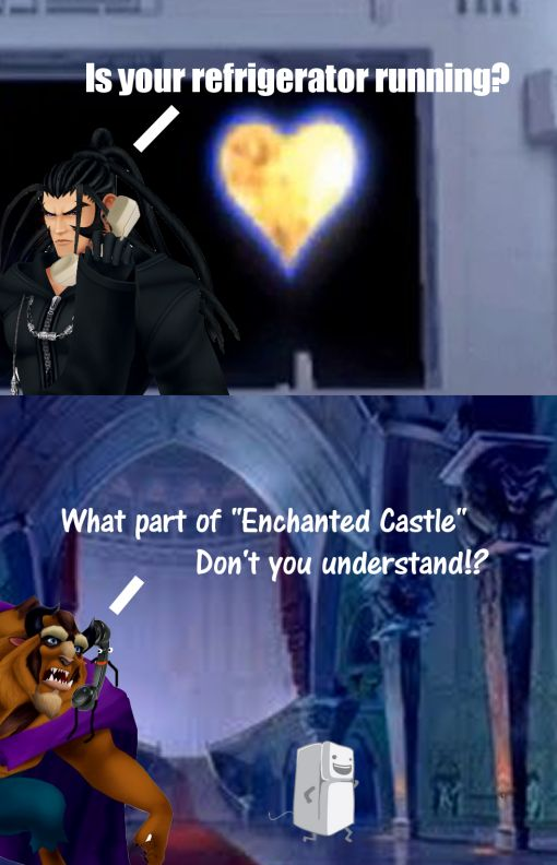 Kingdom Hearts 358/2 Days. Some things I shouldnt find as funny as I do. This is one of them.