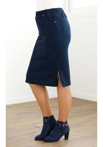 Džínsová sukňa pod kolená #ModinoSK #5XL