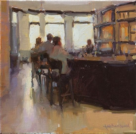 Honorable Mention - Associate Member  Award Sponsor: Oil Painters of America  Five O'Clock Somewhere by Anne Blair Brown  Oil12 x 12  Entered in:Fall 2011 http://www.anneblairbrown.com
