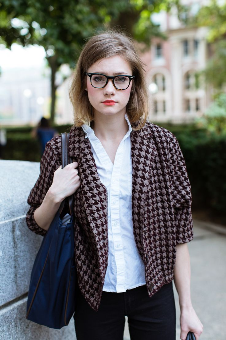 """College Style! 46 NYC Students That Aced It #refinery29 """"College truly is a time when personal fashion really begins to flourish."""""""