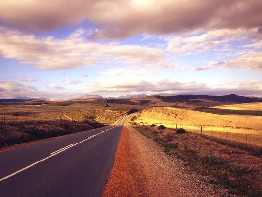 South Africa is one of the best countries for road tripping. Road from Caledon to Villiersdorp by Jacques Le Roux