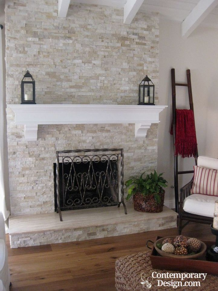 White And Grey Brick Fireplaces In 2020 Brick Fireplace