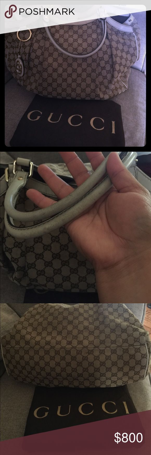 Gucci Sukey Bag Authentic Gucci Sukey shoulder bag its the large size handles are dirty (i will clean up before ship) please refer pictures so you can see the small flaws in the bottom corners comes with dust bag and price tag Gucci  Bags Shoulder Bags