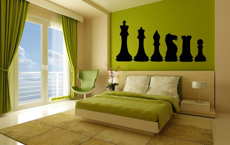 Wall Vinyl Sticker Decals Mural Room Design Pattern Art Decor Skittle Chess Piece Sport Game Play Pawn Hobby mi179 by RoomDecalsAndDesigns on Etsy