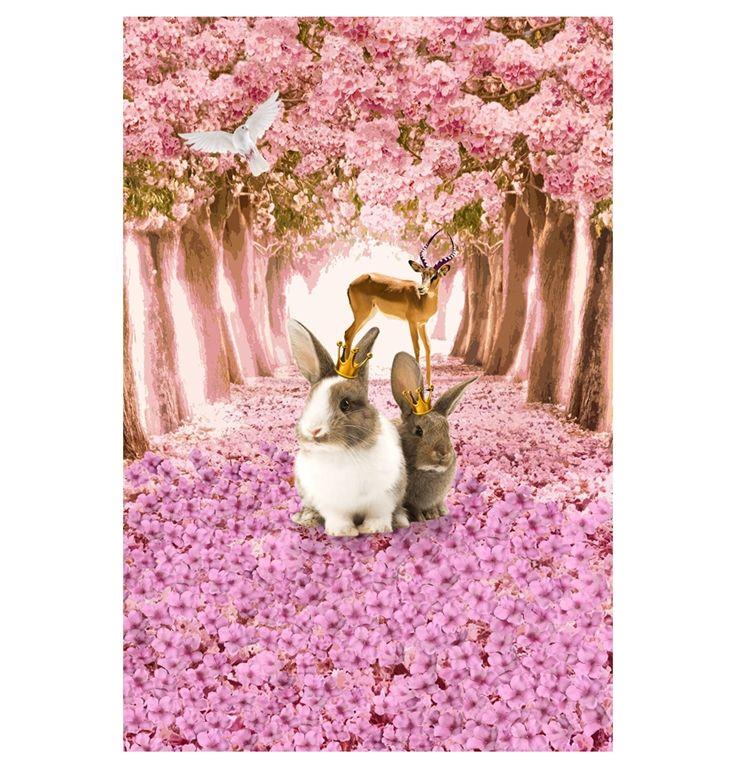 Stofgiganten og Stoffbutikken.no -digitalprint af kaniner og antilope, jersey - gots certificeret