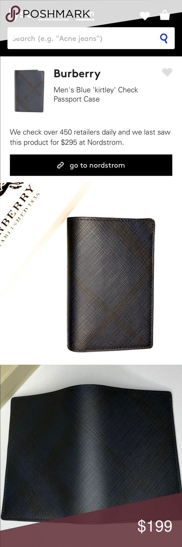 """💯 Burberry kirtley check passport holder wallet 💯 Burberry """"Kirtley"""" passport case/holder in London check PVC with smooth leather trim. Nylon lining; six card slots. 5.5""""L x 3.9""""W. Imported.  NWOT  ❕❕NO TRADES❕❕ ✅ READY TO SHIP NEXT DAY✅ Burberry Bags Wallets"""