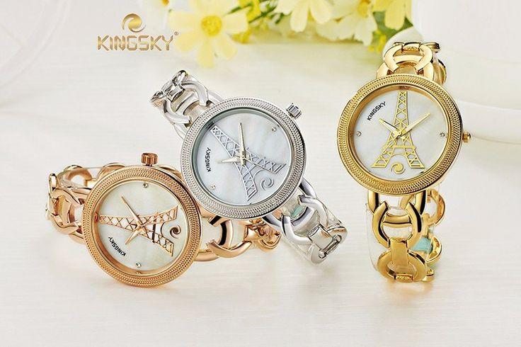 2016 KINGSKY Iron Tower Ladies Wrist Watch