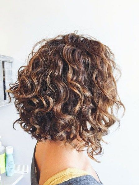 Shoulder Length Bob Hairstyles For Short Curly Hair Curly Hair Styles Short Curly Haircuts Short Curly Hair