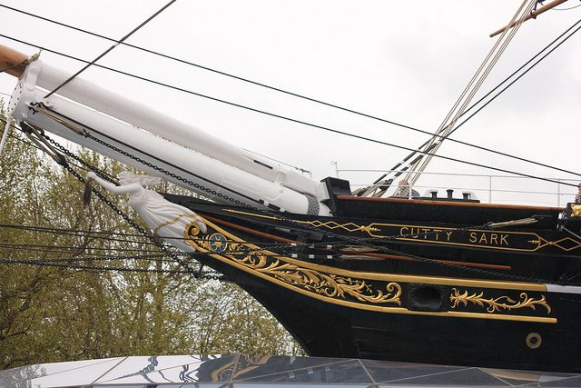 The Cutty Sark is a clipper ship built in 1869