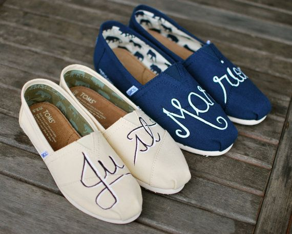 "TOMS Wedding Shoes: ""Just Married""  Except no Classics for me (;"