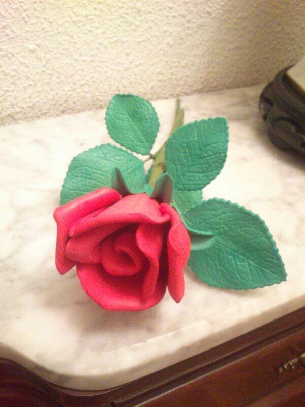 Rosa en goma eva flores goma eva pinterest - Cosas de goma eva ...