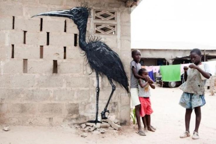 Animal Inspired street art. South Africa.Street Artists, The Artists, Street Art Utopia, Urban Art, South Africa, Wide Open, Open Wall, African Street, Streetart