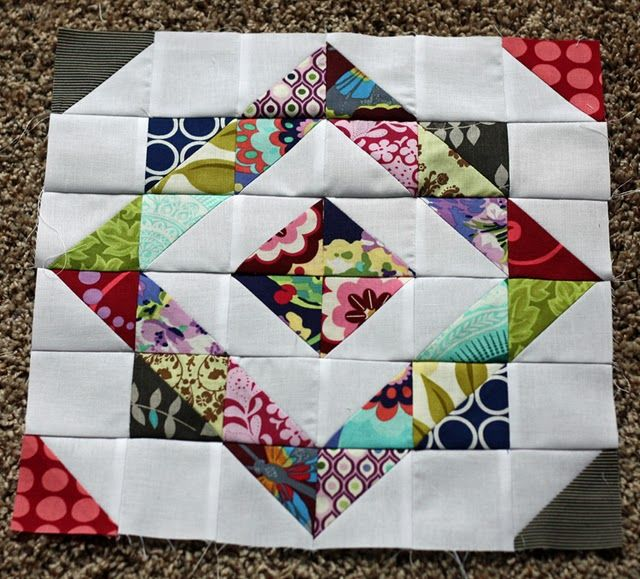 Love this block and it's scrappy!