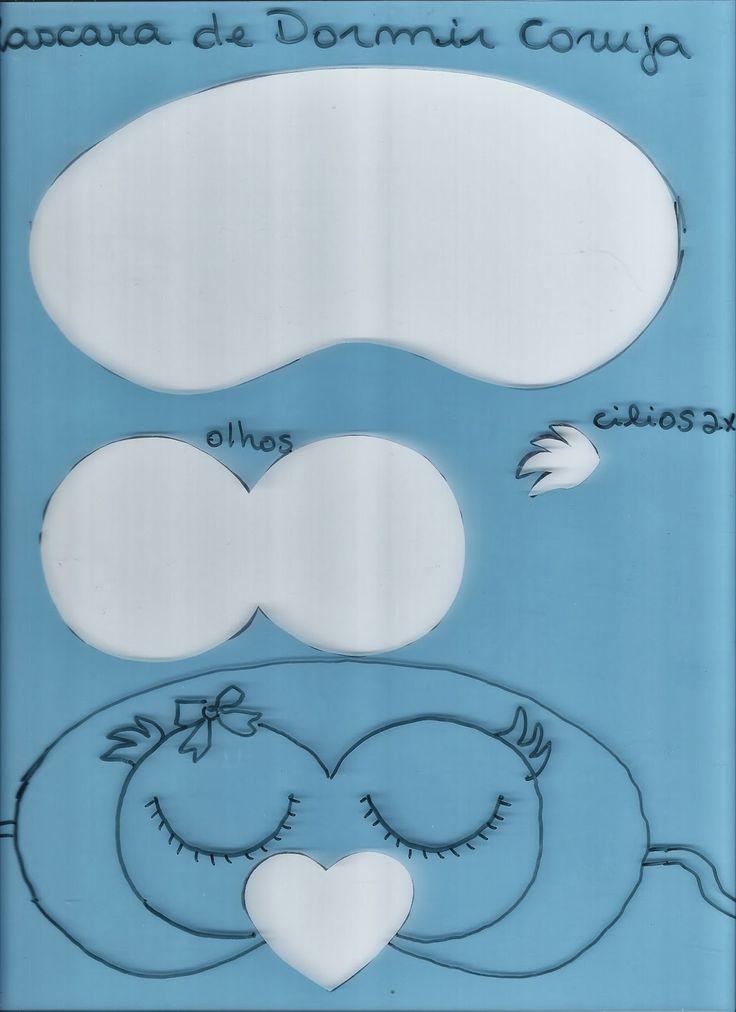 toys - Reciclagem divertida e artesanato: Mascara de Dormir - Corujinha Dorminhoca