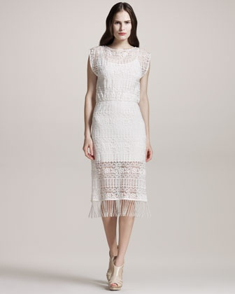 Bea Lace-Overlay Dress by @alice + olivia