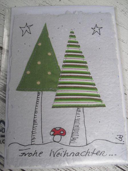 """Handgeschöpfte Karte """"Weihnachten"""" im hohen Tann von einfach-B auf DaWanda.com, 2,50"""