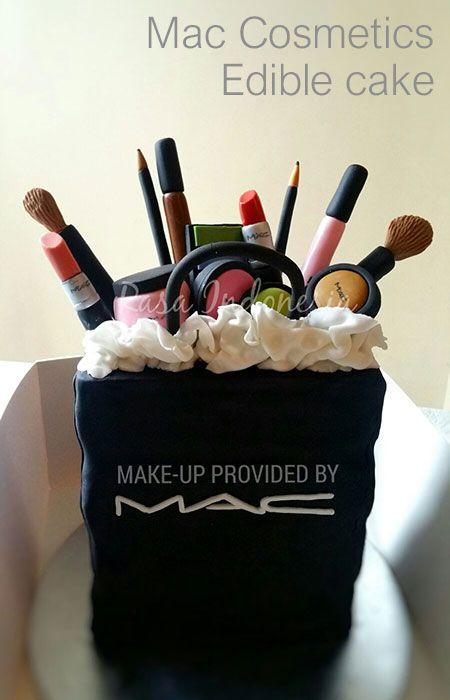Edible MAC Cosmetics Cake