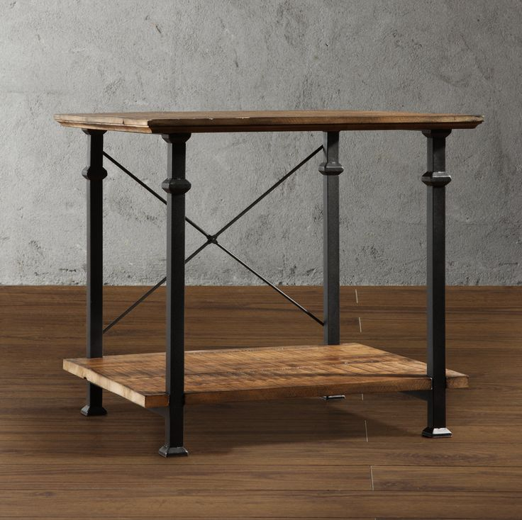 Classic Vintage Industrial Style Is What This Wood And Metal End Table Will  Bring To Your