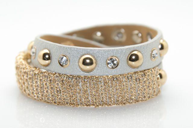 Silver Studded Bracelet