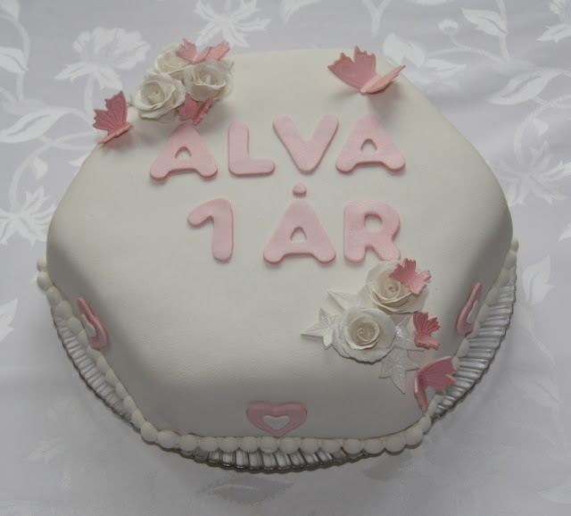Marzipane covered vanilla cake for a cute birthday girl.