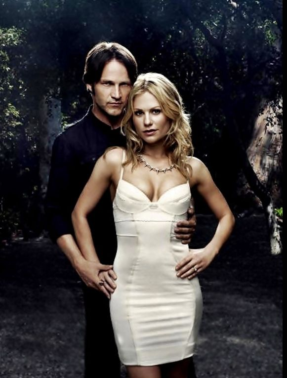 I think it's fabulous they are married in reality...and he is 12 years her senior. Even better :) You 'go' Sookie Stackhouse.