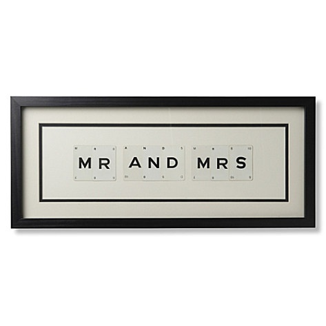 VINTAGE PLAYING CARDS Mr and Mrs frame