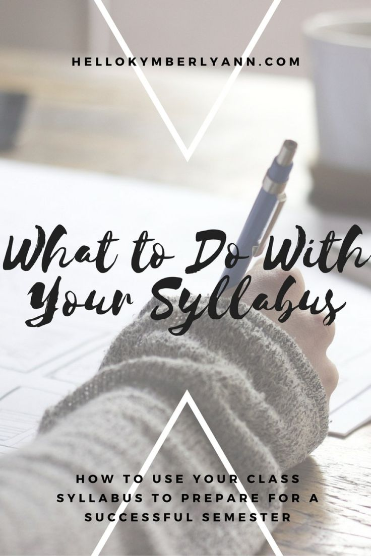 What To Do With Your Syllabus » Hello Kymberly Ann How to use your class…