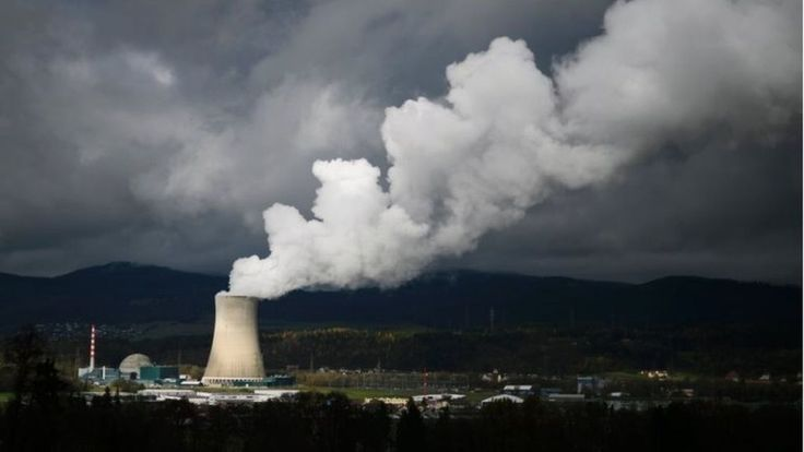 "Switzerland votes on nuclear power phase out process - If voters choose ""yes"" in Sunday's referendum it would force three of the country's 5 reactors to close next yr & the remaining 2 by 2029."