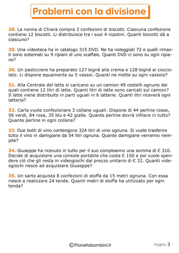 35 Problemi con la Divisione per la Scuola Primaria ...