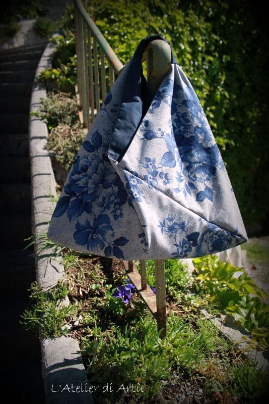 borsa origami con rose vintage  hand made