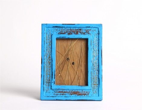 Wooden Turquoise Photo Frame