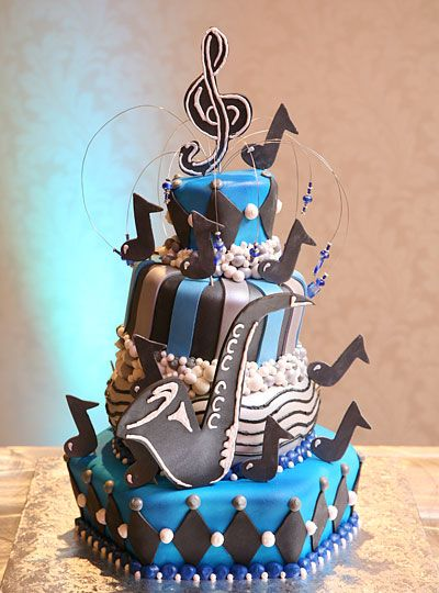 Jazz Theme Mitzvah Cake Made By Granny Schmidt S Bake Shop